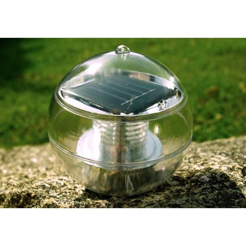 lampade galleggianti per piscina o laghetto giardino bianche