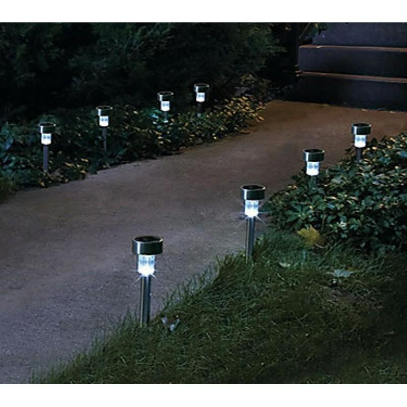 Lampada segnapasso led da esterno energia solare - Lampade a energia solare da esterno ...