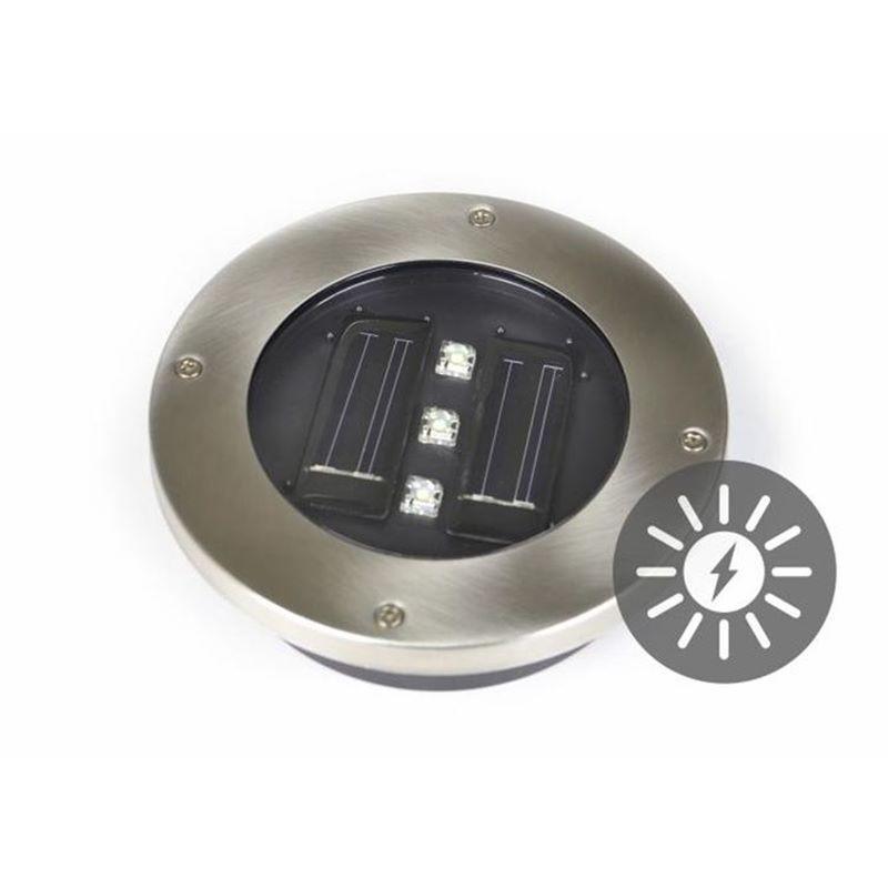 Faretti solari segnapasso led da incasso calpestabili per for Faretti per esterno