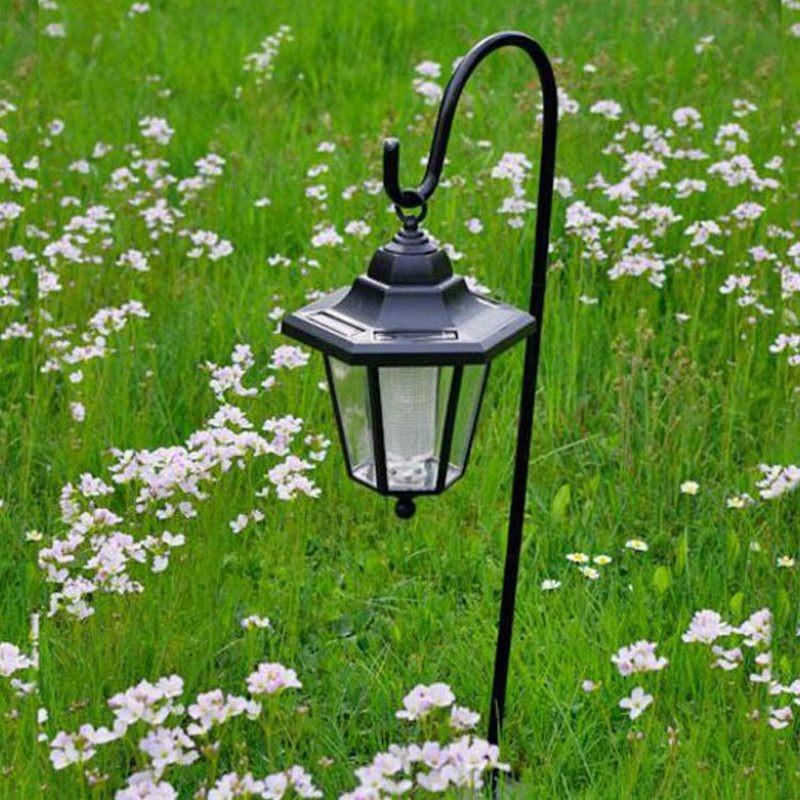 Lanterne da giardino led a energia solare con asta di supporto - Lampade da esterno solari ...