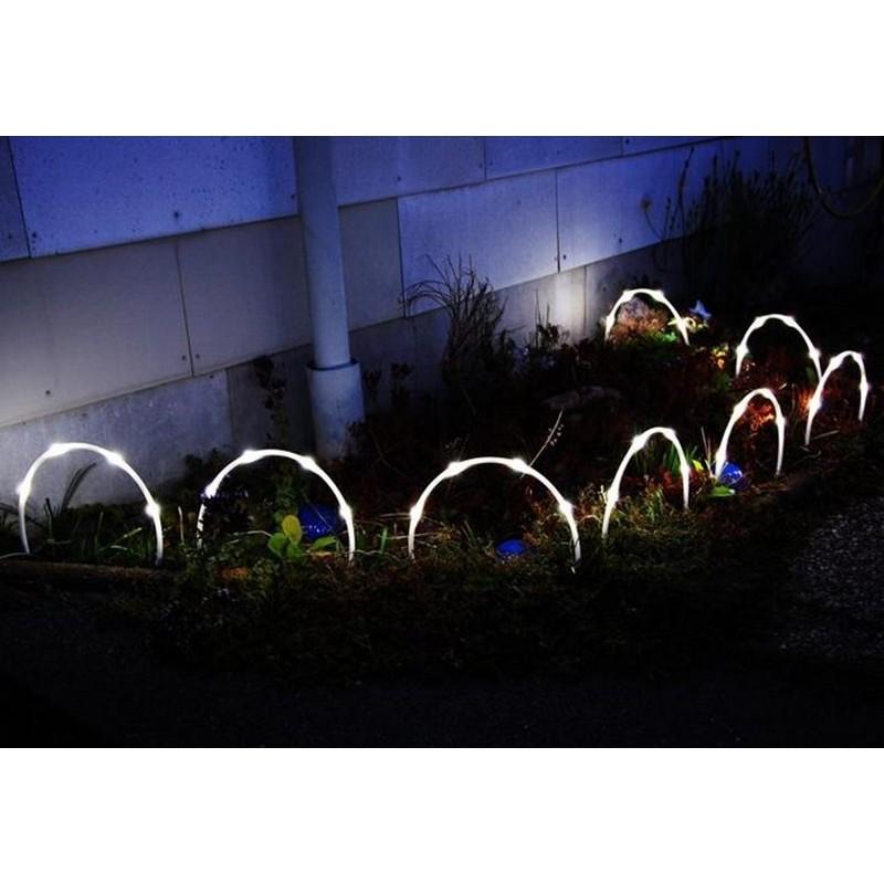 Tubi luminosi ad arco con 32 luci solari led - Luci led esterno giardino ...