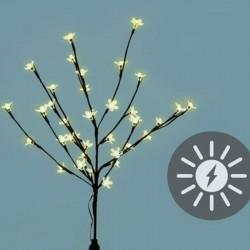 Albero luminoso con 36 Led bianco caldo a energia solare