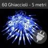 Luci di Natale da esterno: 60 ghiaccioli Led blu