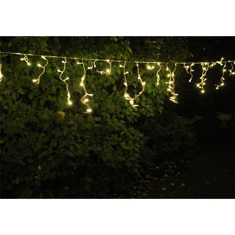 Luci di natale da esterno cascata luminosa fiocchi di neve 200 led - Renna natalizia luminosa per giardino ...