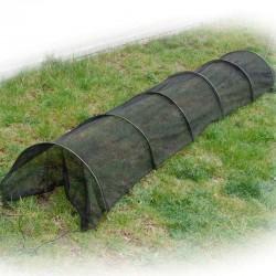 Tunnel per orto con telo a rete traspirante