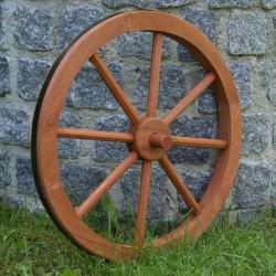 Ruota carro in legno per decorazioni giardino da 45 cm.