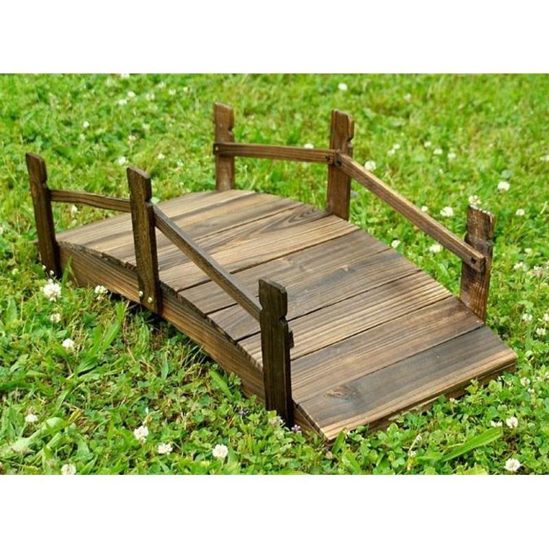 Ponticello di legno per decorazioni giardino da 70 cm for Arredo giardino legno