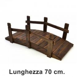 Ponticello di legno per decorazioni giardino da 70 cm.