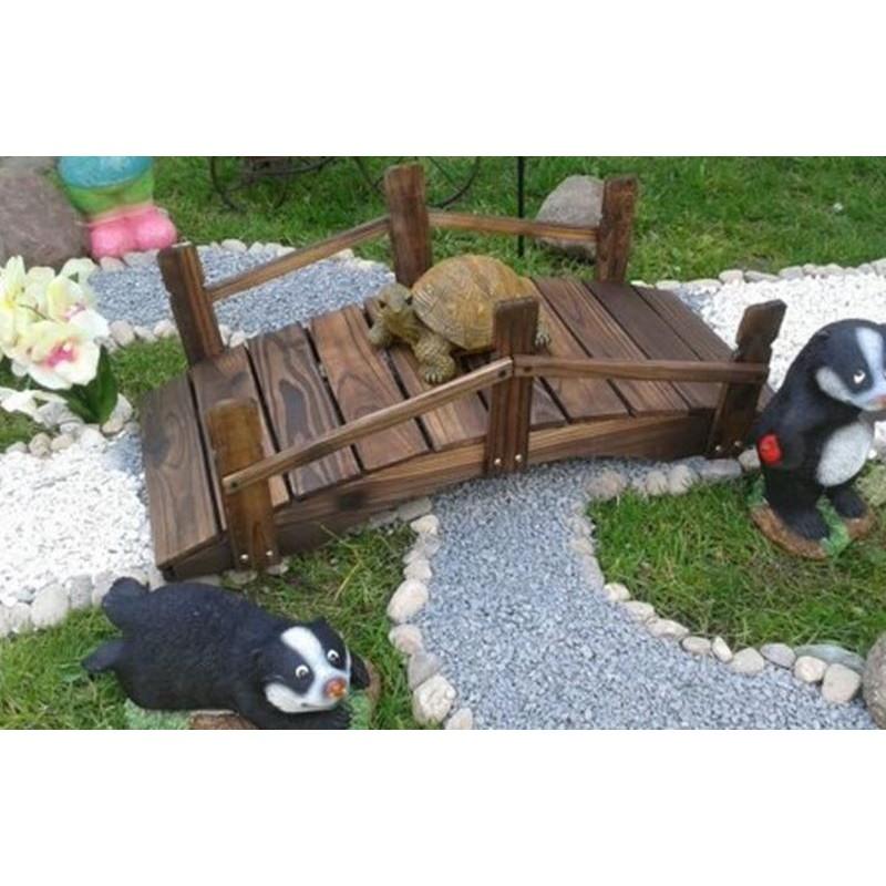 Ponticello di legno per decorazioni giardino da 70 cm for Decorazioni in ferro per giardino