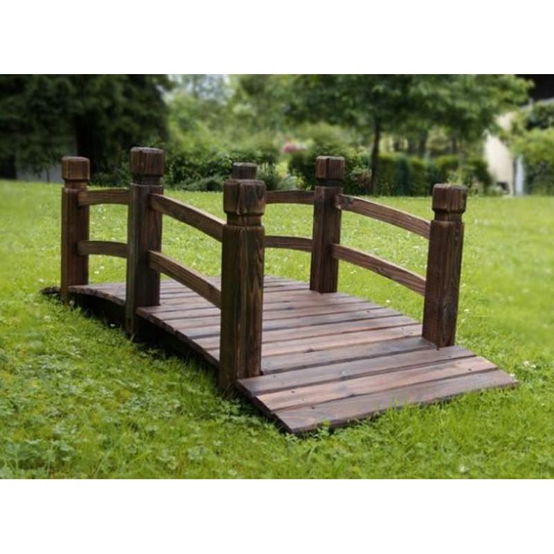 Ponte in legno per giardino e laghetto artificiale - Legno per giardino ...