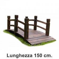 Ponte in legno per giardino da 150 cm.