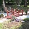 Ponte in legno da giardino