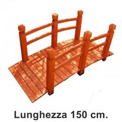 Ponte da giardino in legno da 150 cm.