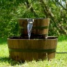 Fontanella da giardino in legno a cascata