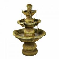 Fontana da giardino a cascata modello conchiglie