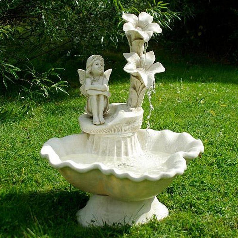 Fontana da giardino decorativa modello elfo inclusa pompa - Accessori per fontane da giardino ...