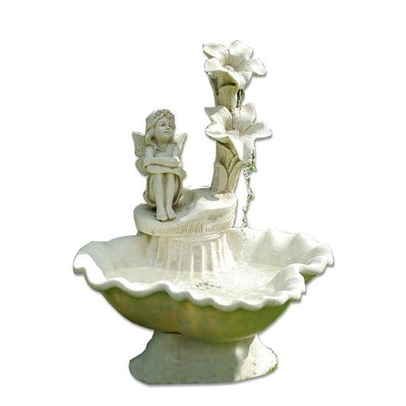 Fontana da giardino decorativa modello elfo inclusa pompa acqua - Fontane da giardino roma ...